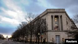 位於美國華盛頓的司法部大樓。(2020年2月14日)。