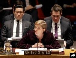 Bà Samantha Power, đại sứ Hoa Kỳ tại Liên Hiệp Quốc.