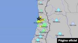 El epicentro se ubicó a 42 kilómetros de Valparaíso.