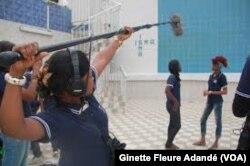 A l'institut supérieur des métiers de l'audiovisuel à Cotonou, au Bénin, le 14 novembre 2018. (VOA/Ginette Fleure Adandé)