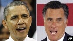 Tổng thống Obama và ứng cử viên tổng thống của đảng Cộng hòa , Mitt Romney
