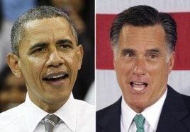 President Barack Obama and Republican presidential candidate, former Massachusetts Gov. Mitt Romney