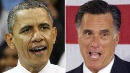 President Barack Obama and Republican presidential candidate, former Massachusetts Gov. Mitt Romney