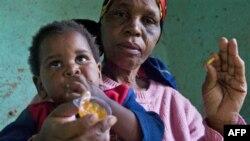 Một em bé Nam Phi bị nhiễm HIV