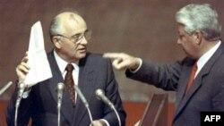 Михаил Горбачев и Борис Ельцин (архивное фото)