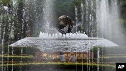 雨中的博鳌论坛举行地点(42013年4月6日)