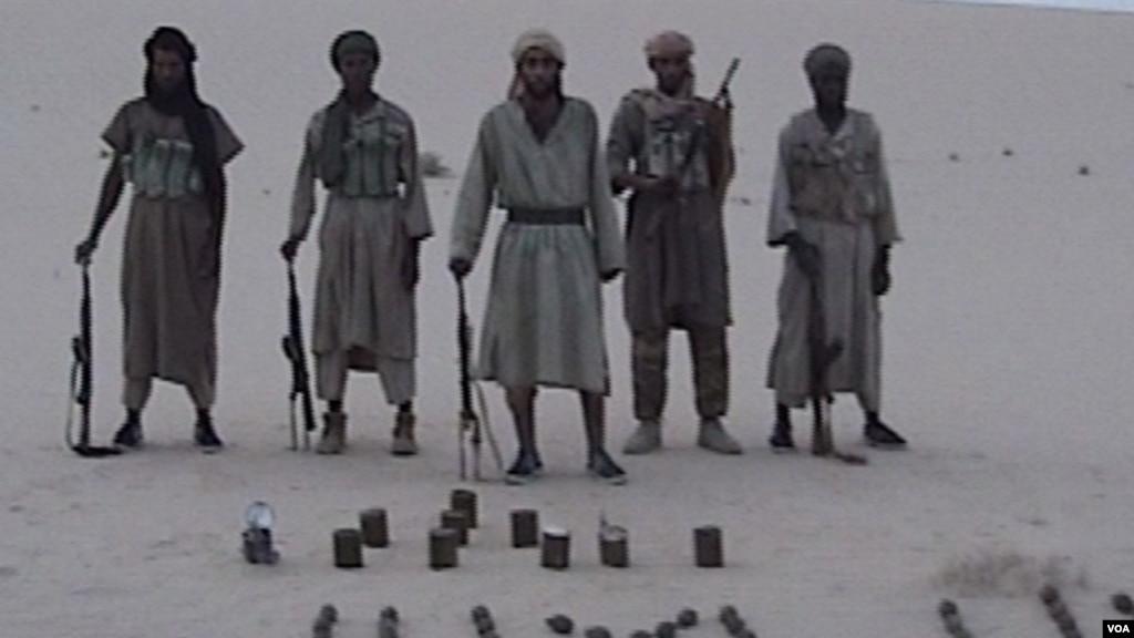 Des combattants d'AQMI.