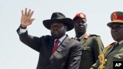 Le président sud-soudanais Salva Kiir, 10 juillet 2015.
