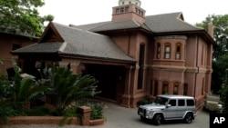 La casa del tío de Oscar Pistorius en Pretoria, Sudáfrica, donde se alojará el atleta, el martes, 20 de octubre de 2015.
