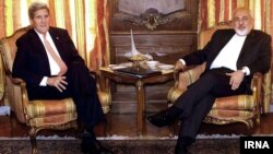 Američki i iranski šefovi diplomatija u rezidenciji iranskog ambasadora u Njujorku, 27. april 2015.