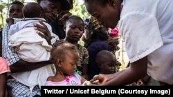 Des milliers d'enfants risquent de mourir de malnutrition dans le Kasaï, selon les évêques congolais, 26 juin 2018. (Twitter/Unicef Belgique)