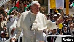 Parte de la visita del papa a Tierra Santa ha estado dirigida a promover la paz entre judíos y musulmanes.