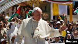 Papa Franja u Vitlejemu, 25. maj, 2014.