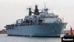 영국 해군의 HMS 알비온 상륙함.