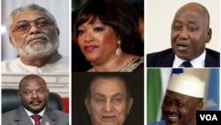 Uva iburyo uja ibubamfu: Jerry Rawlings, Zindzi Mandela, Amadou Gon Coulibaly, Pierre Nkurunziza, Hosni Mubarak, Amadou Toumani Touré...