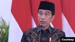 Presiden Jokowi meresmikan berdirinya Bank Syariah Indonesia di Istana Negara, Jakarta, Senin (1/2) (biro Setpres)