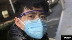 被失踪的中國公民記者陳秋實。