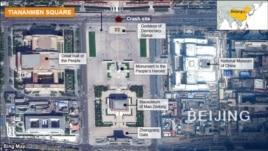 Tiananmen Square car crash