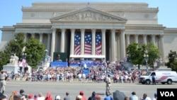 美国国家档案馆举行宣读独立宣言活动