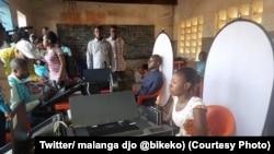 Démarrage d'enrôlement d'électeurs à Tshikapa, dans le Kasaï, 12 septembre 2017. (Twitter/ malanga djo @bikeko)