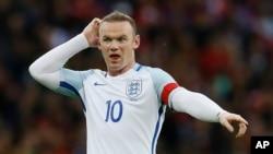 L'attaquant vedette de Manchester United Wayne Rooney.