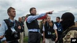 Гуґ на місці падіння літака рейсу MH17 на Донбасі 18/07/2014