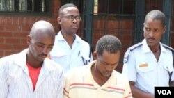 UJabulani Dube lomunye wakhe uMokgalemi Maleya abetheswa icala lokubulala umlimi omhlophe kwele Botswana.