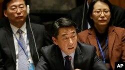 South Korea's ambassador to the United Nations, Oh Joon.