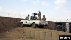 Des Casques bleus dans la base de la Minusma, à Kidal, Mali, le 22 juillet 2015.