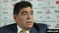 La légende du football argentin Diego Maradona