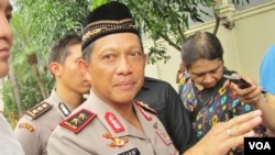 Kapolda Metro Jaya, Irjen Polisi Tito Karnavian memberikan keterangan di Markas Polda Metro Jaya, Senin 16/11 (VOA/Andylala)