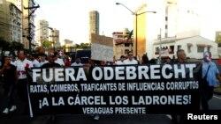 Manifestação no Panamá contra a empresa brasileira
