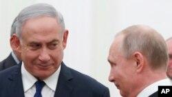 Президент Росії Путін та прем'єр-міністр Ізраїлю Нетаньягу