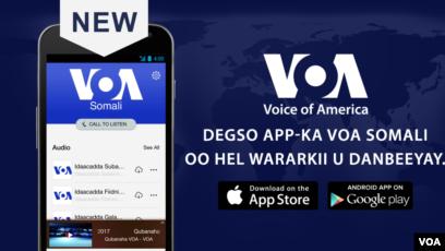 App-ka Cusub ee VOA laga Dhageysto