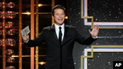 "Billy Bush presents an award at the 41st annual Daytime Emmy Awards at the Beverly Hilton Hotel on Sunday, June 22, 2014, in Beverly Hills, Calif. He recently lost his job on the TV show, ""Today."" (Photo by Chris Pizzello/Invision/AP)"