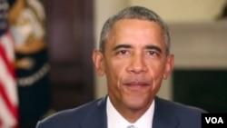 ປະທານາທິບໍດີສະຫະລັດ ທ່ານ Barack Obama.