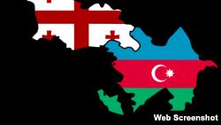 Azərbaycan və Gürcüstan xəritəsi