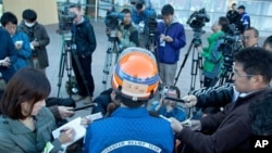 Team Leader of the Japan Disaster Relief Team Yukio Numata speaks to the media about search operations in the aftermath of the earthquake in Christchurch, March 3, 2011