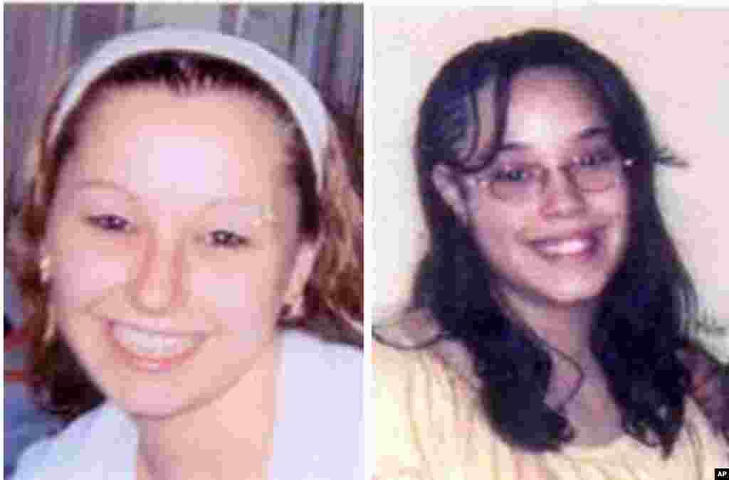 6일 미국 오하이오주 클리블랜드에서 실종됐다가 10년여만에 구출된 여성 들의 실종 전 사진. 어맨다 베리(왼쪽)와 지나 디지저스.