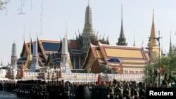 Binh sỹ Thái Lan diễn tập cho sự kiện 'một lần trong đời'