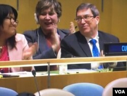 El canciller de Cuba, Bruno Rodríguez, presentó la resolución contra el embargo de EE.UU. a Cuba.