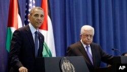 Barack Obamam et Mahmoud Abbas le 21 mars 2013