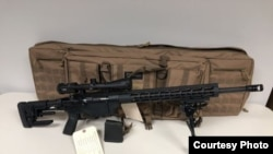 警方说孙文亮买的一支步枪和子弹(佛罗里达中部大学警察局图片)