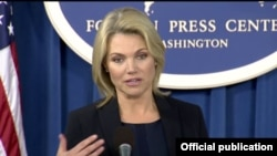 Heather Nauert, porta-voz do Departamento de Estado