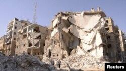 Sirijski grad Alepo pretrpeo je teška razaranja u borbama između vladinih snaga i pobunjenika