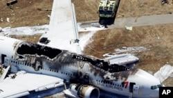 El accidente aéreo en San Francisco provocó la muerte de tres personas.