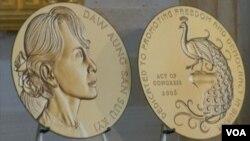 美国国会金质奖(视频截图)
