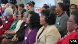 Participants listen to health advocates and experts describing the proper healthcare service that the Southeast Asian American community in Connecticut needs in the Health Session, organized by the Southeast Asian American Health Coalition, on Tuesday, Oc