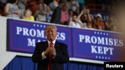 Predsednik Donald Tramp je prvih 100 dana na položaju predsednka obeležio na skupu u Pensilvaniji