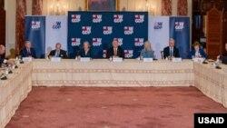 Secretary of State Mike Pompeo and White House Senior Advisor Ivanka Trump attend last month's W-GDP anniversary celebration.